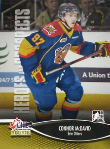 HEROES & PROSPECTS ... 2012-13 set ... with CONNOR McDAVID!