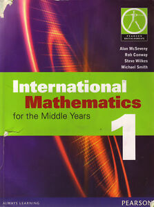 INTERNATIONAL MATHEMATICS FOR MIDDLE YEARS BOOK 1 W/CD TEXTBOOK