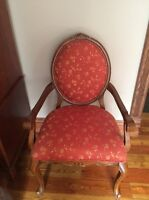Solid wood Upholstered arm chair