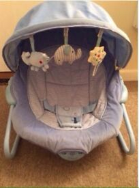 Babies r us musical baby bouncer with vibrations