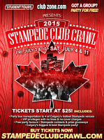 2015 Calgary Stampede Club Crawl FUN Jobs Available Now!