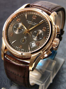 Hamilton Jazzmaster Auto Chrono Chronograph Rose Gold Watch