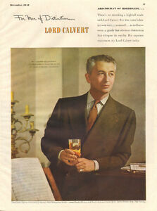 1948 full-page large color magazine ad for Lord Calvert Whiskey