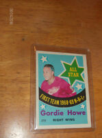 "GORDIE HOWE  "" FIRST ALL STAR TEAM  1968-69  N.H.L. """
