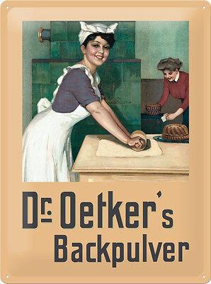 Dr. Oetker bäckerin Bicarbonato De Sodio Letrero Letrero De Metal 3d EN RELIEVE