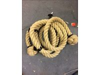 36mm bannister rope x 5.5 mts, with 5 brackets, brand new, decoration