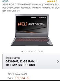 Asus Gaming Laptop new with Tags on