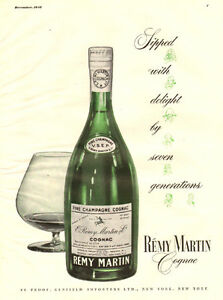 1948 full-page magazine ad for Remy Martin Champagne