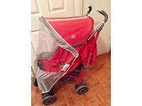Maclaren Techno XT Pushchair Stroller with raincover