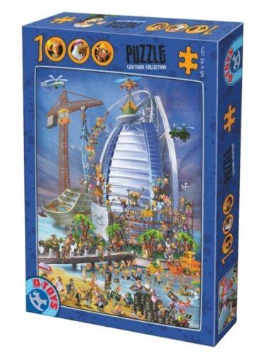 D-Toys 1000 Piece Puzzle - Cartoon Collection Burj Al Arab