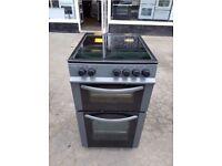 BUSH Black Grey 50cm Freestanding electric cooker