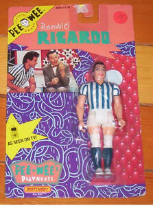 RICARDO soccer player action figure PEE WEE'S PLAYHOUSE on card