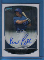 Kevin Pillar CERTIFIED AUTOGRAPH card 2013 Bowman Chrome