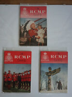 3 Vintage 1950's&60's RCMP Quarterly Magazine - Great Find