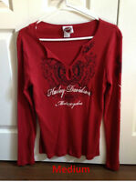 Harley Davidson long sleeve shirts - manches longues pour femmes
