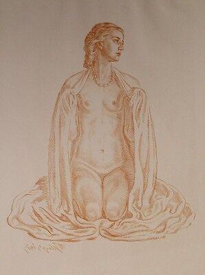 Max Seliger Erblühende Venus Akt Erotik nude Modell Leipzig Bublitz Pommern 1917