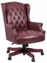 BN Stunning Genuine Leather Chesterfield Wingback Armchair 65%off Marrickville Marrickville Area Preview
