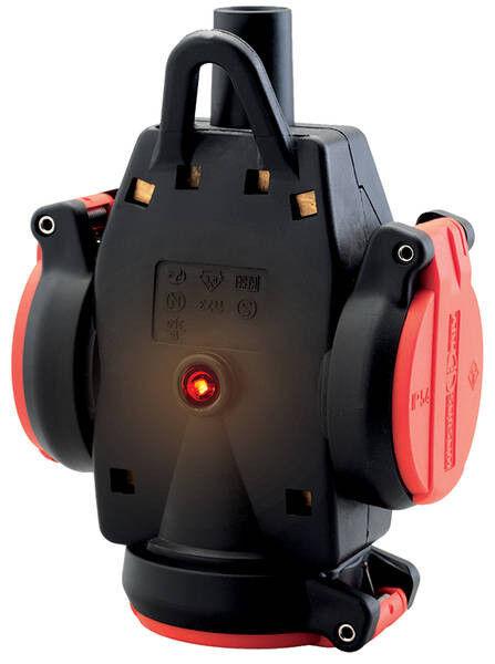 ABL Dreifach-SCHUKO-Kupplung, rot/schwarz  1173543 ( 258896 )