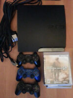 PS3 250GB + 3 controllers + 9 games in excellent condition