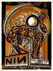 Nine Inch Nails Poster Las Vegas June 15 2018 Signed & Numbered