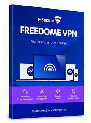 F-Secure Freedome VPN 2020 1 PC Gerät 1 JAHR WIN MAC Android