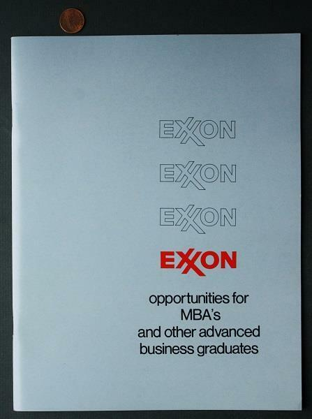 Circa-1970 Exxon Oil-Gas company prospective College MBA Information Booklet!*