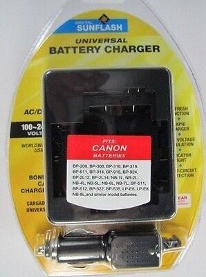 CANON BP208/BP308/NB4L/LPE8 & Similar Universal Charger byDigital Sunflash-Black
