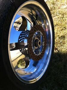 PERFORMANCE MACHINE REAR WHEEL COMPLETE CBR,GSXR ZX10R R1 R6