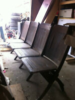Antique Theater Seating / Antique bench