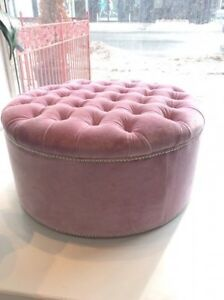 New tufted ottoman with crystal buttons