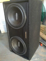 Concept subs in box with amp