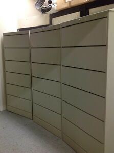 6 DRAWER MEDICAL DATAFILE BEIGE FILE CABINETS