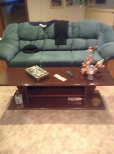 Sofa, non smoker... Coffee table and lamps for sale