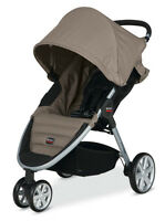 NEW -Britax B-Agile Stroller + Fitted Bug Net - Sandstone Color
