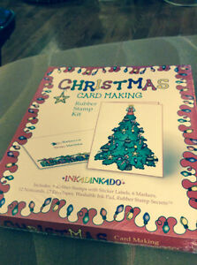 NEW CHRISTMAS CARD MAKING RUBBER STAMP KIT