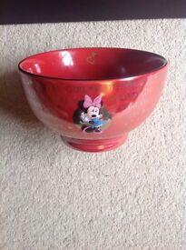 Mini mouse red bowl