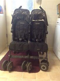 Maclaren double buggy push chair