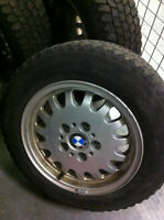 BMW Rims + Winter Tires, Set of 4, P195/65 R15