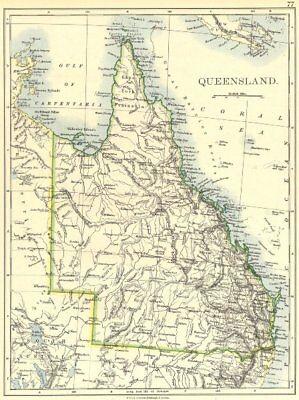 AUSTRALIA. Queensland 1897 old antique vintage map plan chart