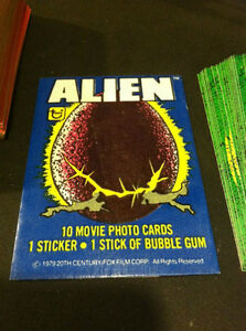 ALIEN 1979 TOPPS CARD & STICKER SET + WRAPPER VINTAGE Oakville / Halton Region Toronto (GTA) image 4