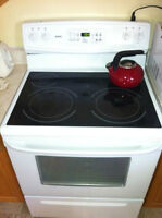 Kenmore Glasstop Stove and Kenmore Frig