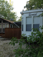 43' Nomad Park Model Trailer, Deck & Gazebo at Lilac Resort
