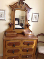 Antique Dresser with matching Head and Footboard