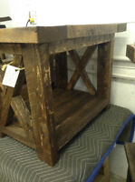 Handcrafted Rustic end table