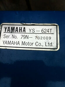 YAMAHA YS624 BOTTOM END OF THE SNOW BLOWER TRACK MODEL Windsor Region Ontario image 10