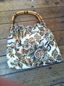 Vintage carpet bag style handbag