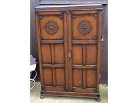 Solid wood oak vintage wardrobe