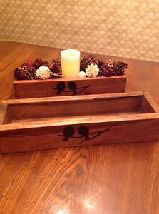 Wooden Table Centrepiece Box