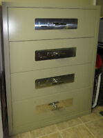 Fire protected 4 drawer legal-sized lateral file cabinet / safe