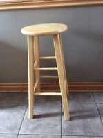 Quality Solid Wood Bar Height Stool - St. Thomas